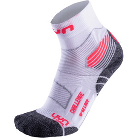 UYN Run Trail Challenge Socks Dame white/coral fluo